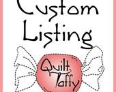 Custom listing for cheeriocharlie