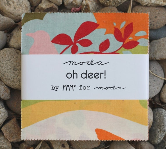 last one 5 inch charm pack OH DEER Moda Fabric by Momo