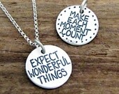 Inspirational Necklace - Graduation Gift - Reversible Inspirational Jewelry by Hanni