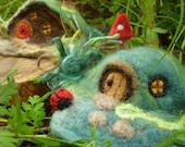 DIY Gnome Home Needle Felting Kit Fairy Garden Gift