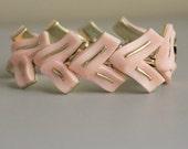 1960s Bracelet / Vintage Bracelet / Pink Bracelet