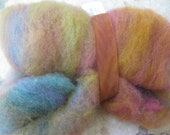 Woolpops Bejeweled Batt Cheviot Corriedale Wool Hand Made