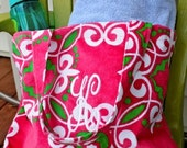 Personalized Preppy Medallion Terry Tote Bag