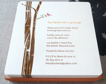 Family Tree invitation, baby shower, wedding shower, birthday party, DIGITAL FILE