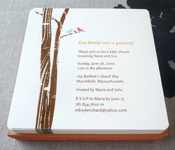 Family Baby Shower Invitations: Family Tree Invitation Baby Shower Wedding By AlmostSundayInc