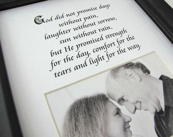 God Did Not Promise Days  8 x 10 Designer Photo Mat Design M84
