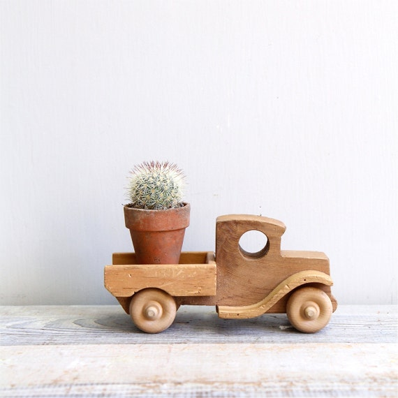 Wooden Trucks Toys And Joys : Vintage handmade wooden toy truck