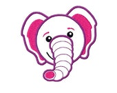 5 min INSTANT Download - Baby elephant digital machine embroidery 4 sizes - applique