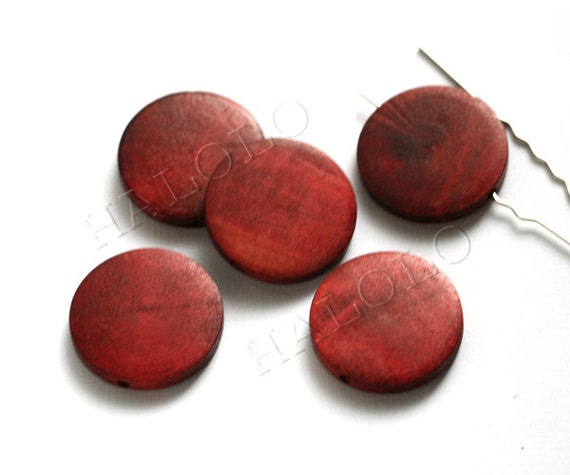 8pcs brown round wooden bead Diameter 30mm W111