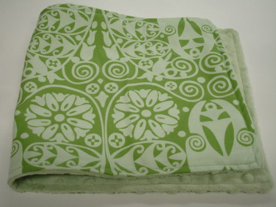 Temple Doors Baby Burp Cloth with Minky
