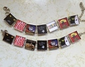 Design your Own favorite Broadway  Musical link Bracelet. Free USA Shipping