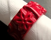 Set of 4 Red Napkin Rings...
