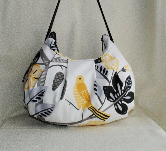 Pleated Bag - Waverly Small Talk / Blackbird