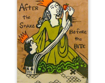 Fairy Tale Woodblock: After the Snake