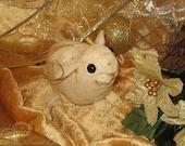 Guinea Pig Ornament - Gold Stardust
