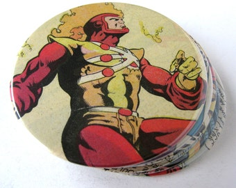 Firestorm Coasters // Recycled Vintage Comic