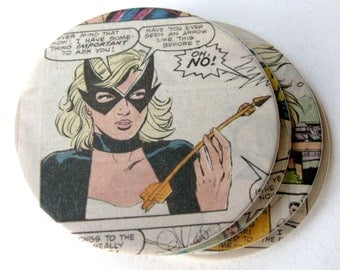 Mockingbird Coasters // Recycled Vintage Comic // Set of 4