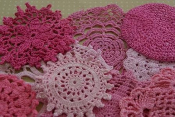 Ballerina Hand dyed vintage doilies