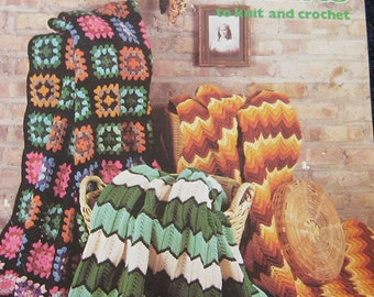 Classic Afghans Crochet Knit Pattern Book Leisure Arts