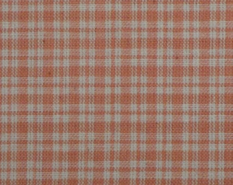Homespun Fabric | Homespun Material | Cotton Fabric | Plaid Fabric | Rose Plaid 1 Yard