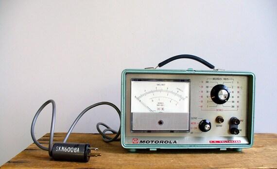 Vintage Motorola Voltmeter / Industrial Home Radio Look / Mens Electronics