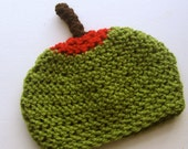 RESERVED Olive - 3 to 6 month baby pimento olive with toothpick hat