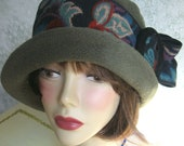 Vintage Womens Flapper Hat Pattern  With Upcycled Trim Easy To Make Instant Download
