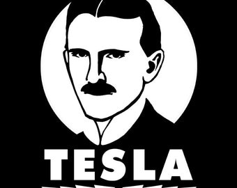 Nikola Tesla - Vinyl Decal Mad Scientist Peel and Stick