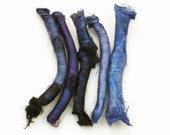 Silk carrier rods - hand dyed - dark blue, rhapsody purple, violet, lilac