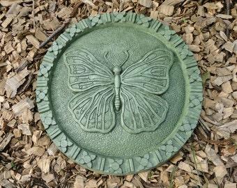 Concrete Butterfly Stepping Stone (Moss) Garden Sculpture
