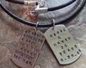 Dog Tag Necklace, Personalized Dog Tags, Dog Tags Necklace, Couples Necklace, Name Necklace, Anniversary Necklace, Quote Necklace, Husband