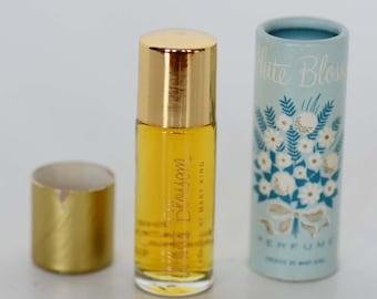 Vintage White Blossom Perfume by Mary King - J.R. Watkins Company - 1 Fluid DRAM - Purse Travel Size - Original Box