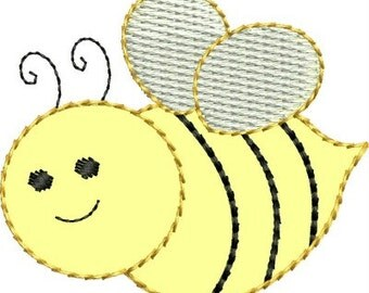 INSTANT DOWNLOAD Felt Bee Applique embroidery designs