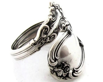 Sterling Silver Size 3  To 9 Spoon Ring Chantilly Demitasse