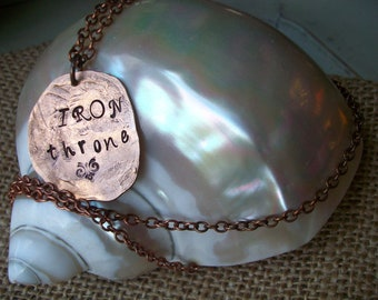 Necklace Hand Hammered copper jewelry CHOOSE your WORDs