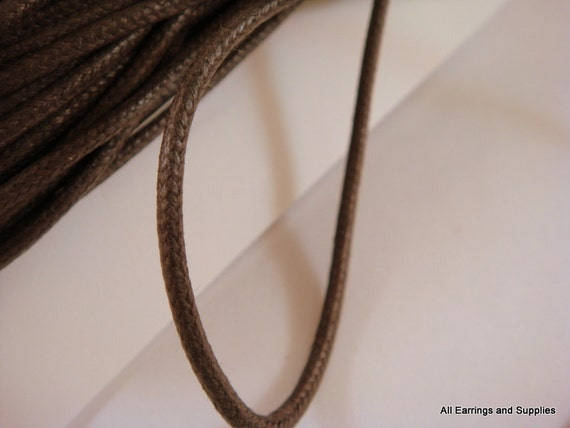 30ft Brown Cording Waxed Cotton Chocolate 2mm - 30 ft. - STR9020CD-CH30