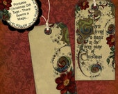 Instant Download Digital Printable Christmas Gift Tag Set - There's Magic jpg pdf or png