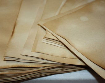 Tea Stained card stock 8 1/2 x 11 you can cut to 8 x 10 sheet paper