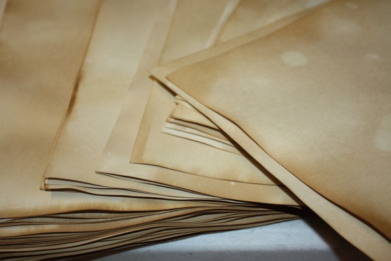 SHEET PAPER 8 1/2 x 11 Tea Stained Paper Card stock you can cut to 8 x 10