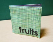 SALE! Fruits Cloth Book printed on organic cotton