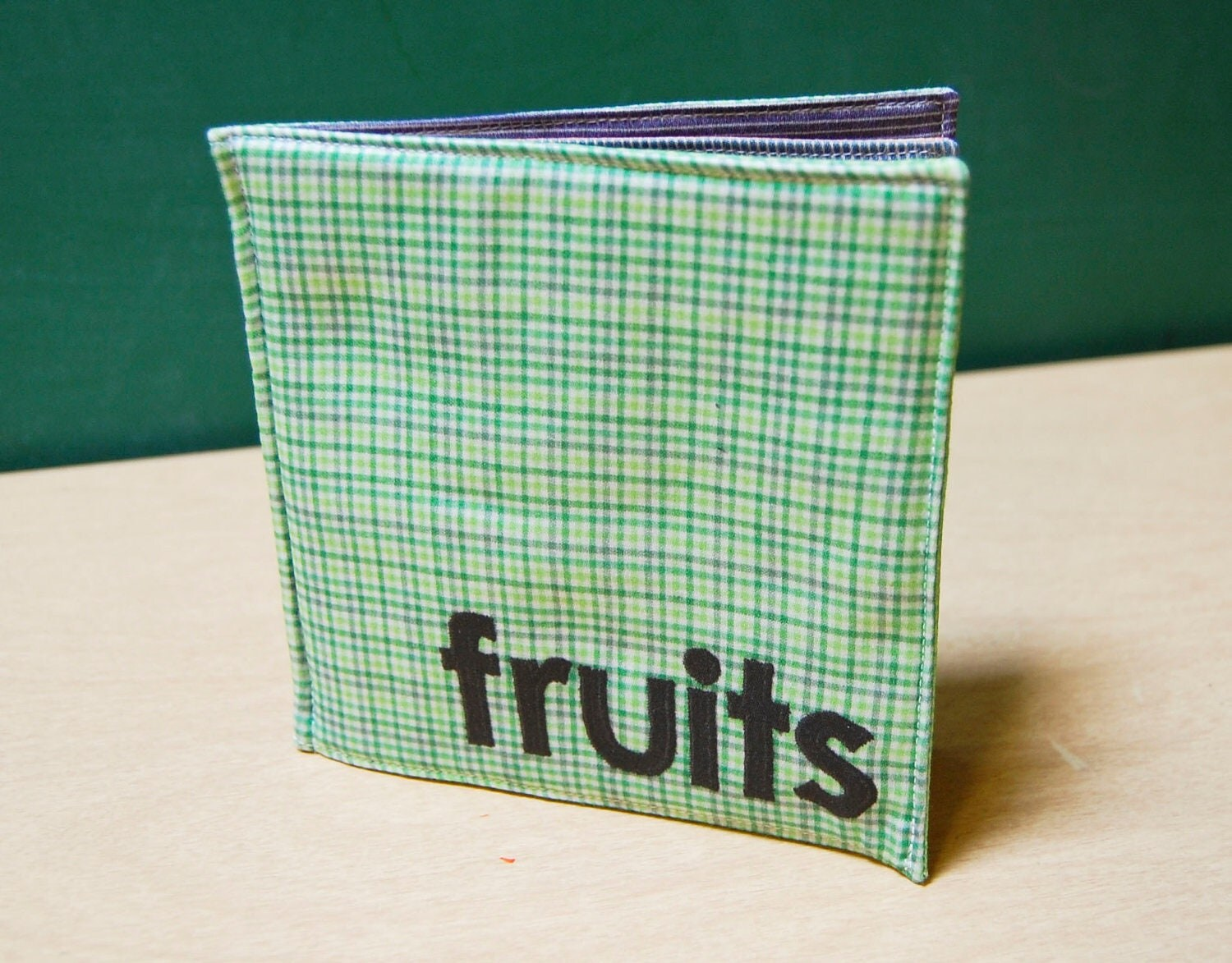 Fruits Cloth Book Printed On Organic Cotton