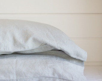Set of TWO Pure Linen pillow cases 65 cm