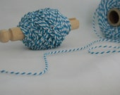 25 yards bakers twine blue and white