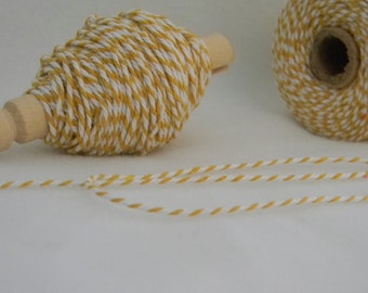 25 yards bakers twine yellow and white
