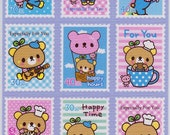 SALE Kawaii Bean 2 Bear Stamp Sticker Sheet B
