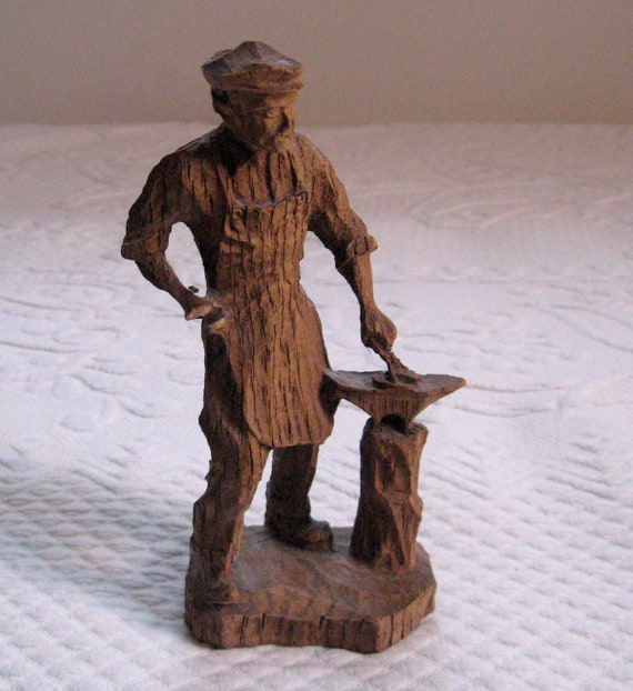 Vintage the smith german wood carved figurine s