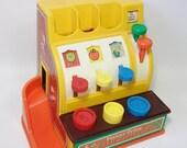 1975 Vintage Fisher Price Cash Register - Vintage Toy for Children
