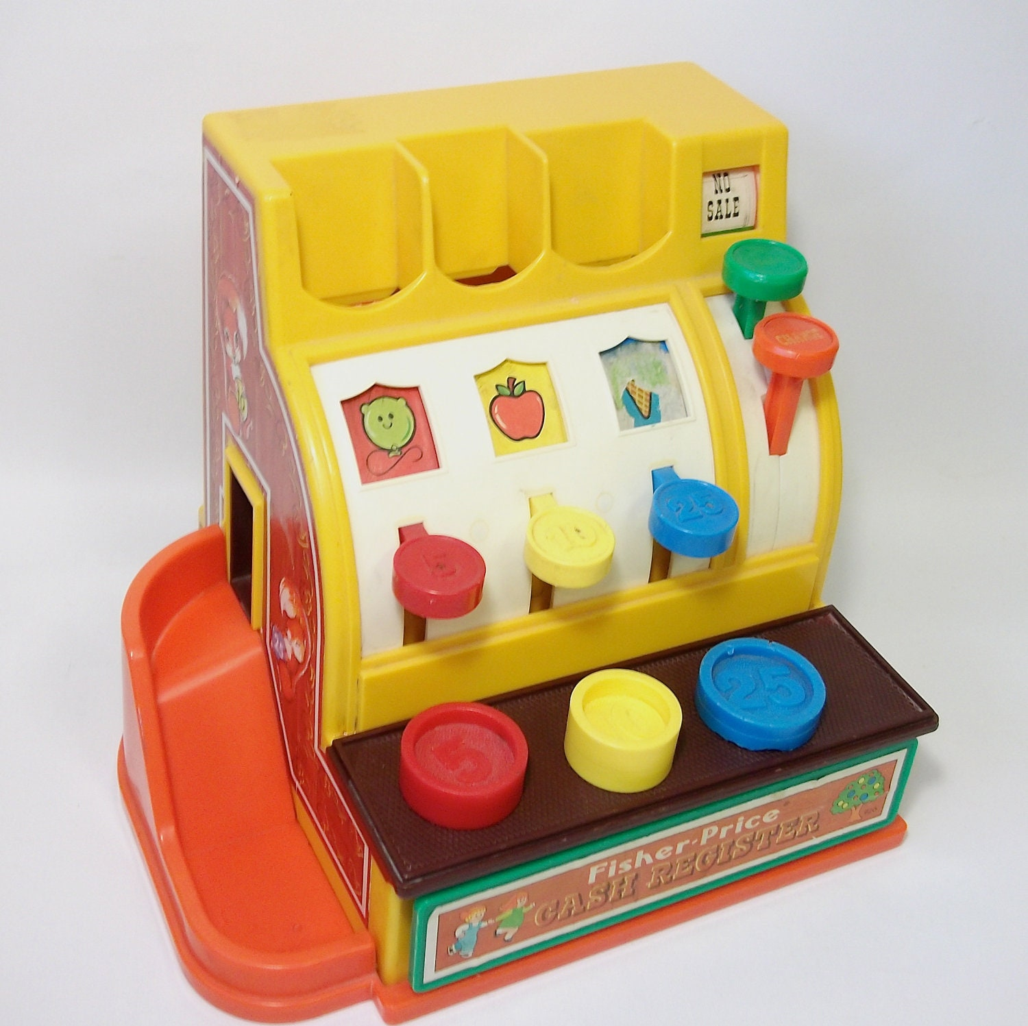 Fisher Price Toys : Vintage fisher price cash register toy for