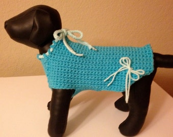 Immediate Download - PDF Crochet Pattern for Sweet Penny's Dog Sweater - BEGINNER Skill Level