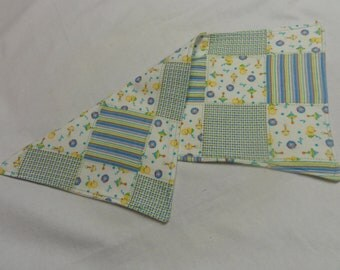 Quilted Look Pastel Print Burp Cloth